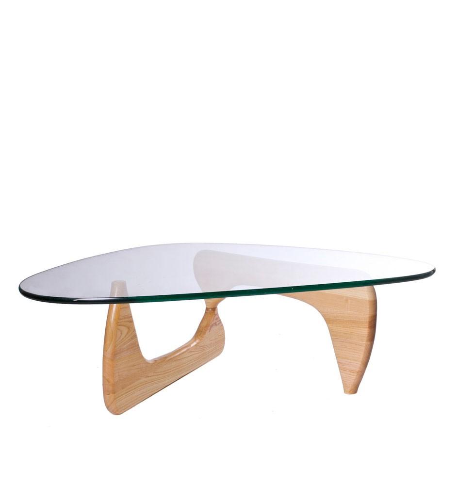 Noguchi Table Oak Wood 19mm Glass Smart Living